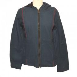 Women's Hooded Jacket petroleum blue size L
