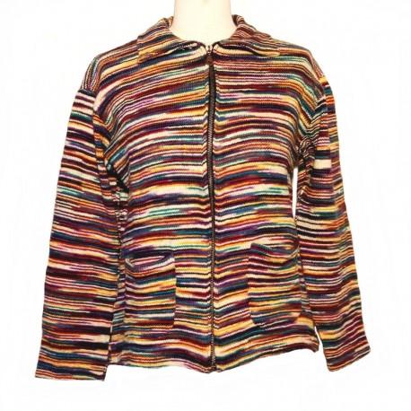 Ethnic multicolore stripped cotton vest