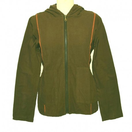 Women's olive green hooded Jacket size M