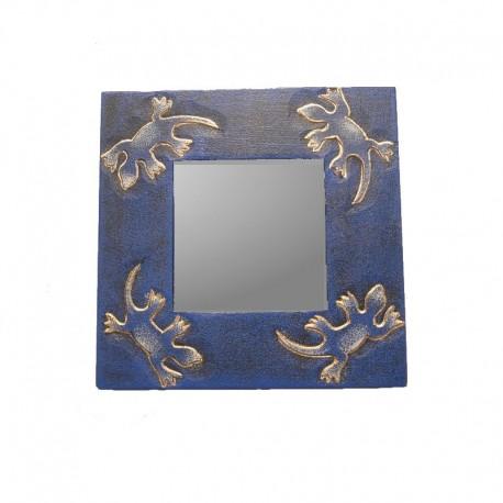 Mirror 20 cm mixed blue Gecko design