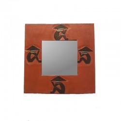 Miroir 20 cm rouge Chapeau chinois