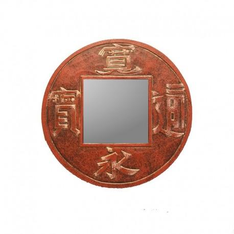 Mirror Ø 20 cm heather red Calligraphy design