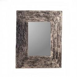 Miroir 25 cm argenté chiné