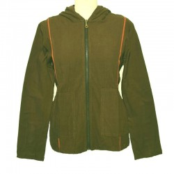 Women's Hooded olive green Jacket size S