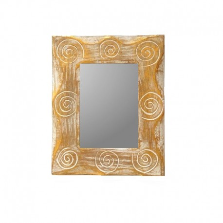 White and silvery mixed mirror 25 cm spiral design