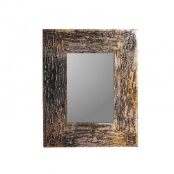 Mirror 25 cm silvery and golden mixed