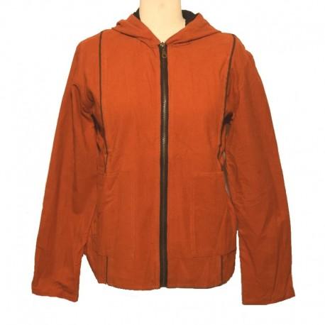 Women's rust hooded Jacket size S
