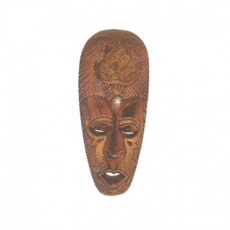 Masque Africain H 30 cm en bois design Tortue