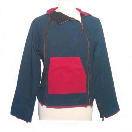 Women's jacket Petroleum blue size S