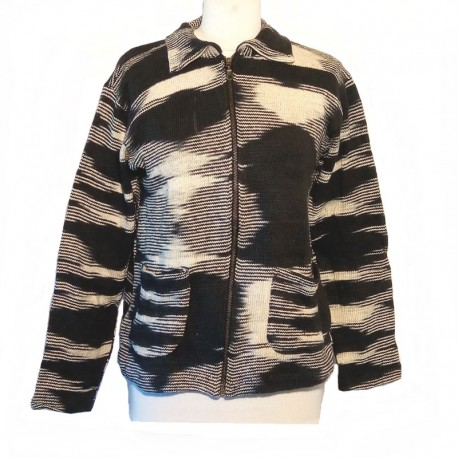 Women's black and white cotton vest