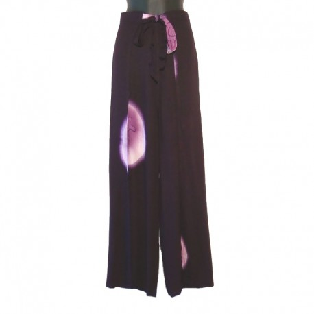 Pantalon portefeuille Tie and Dye - Violet