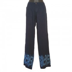 Straight pants flower design - Different sizes and colors