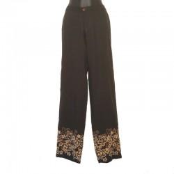 Pantalon droit design fleur - Différentes tailles et couleurs