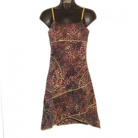 Robe courte XS/36 - Noir pois multicouleurs