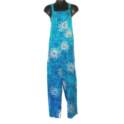 Salopette rayonne bleu clair motif soleil taille M