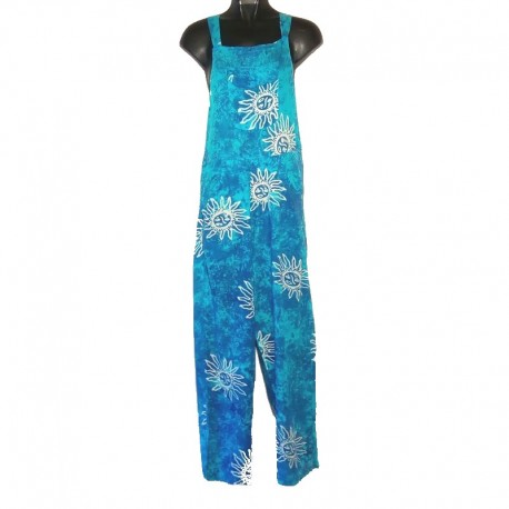 Overalls rayon light blue with sun design size M
