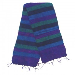 Striped wool scarf Yak 150x30 cm - Model 54