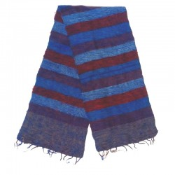 Striped wool scarf Yak 150x30 cm - Model 55