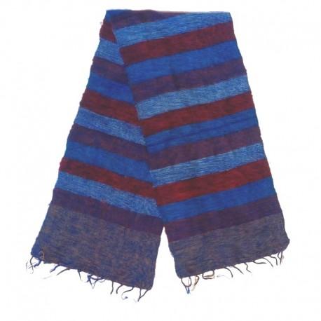 Striped wool scarf Yak 150x30 cm - Model 55