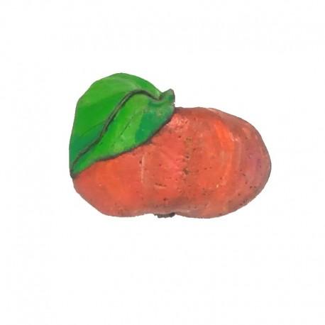 Barrette pomme en résine