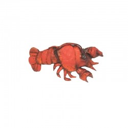 Crustacean resin hair slide