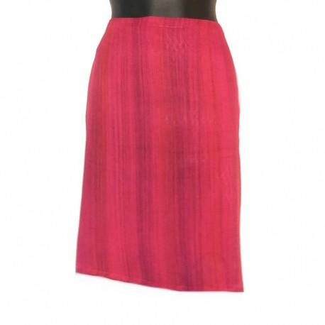 Short rayon sarong skirt - Model 01