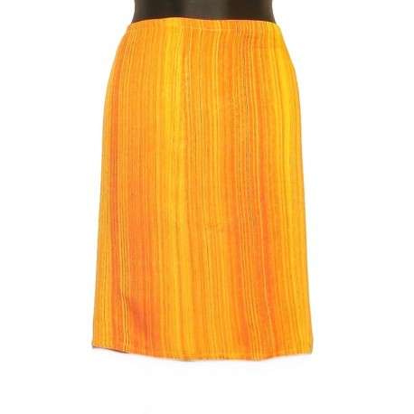 Short rayon sarong skirt - Model 02