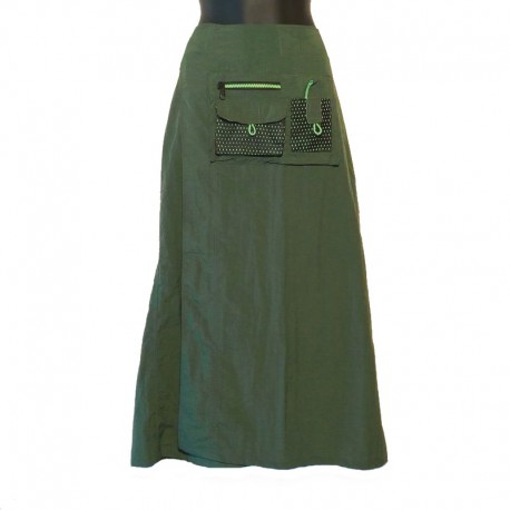 Long wrap skirt parachute - Green