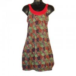 Robe courte en coton XS/36 - Imprimé fleurs