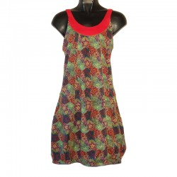 Short cotton dress XS / 36 - Flower print