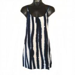 Robe courte Tie and Dye XS/36 - Blanc-bleu