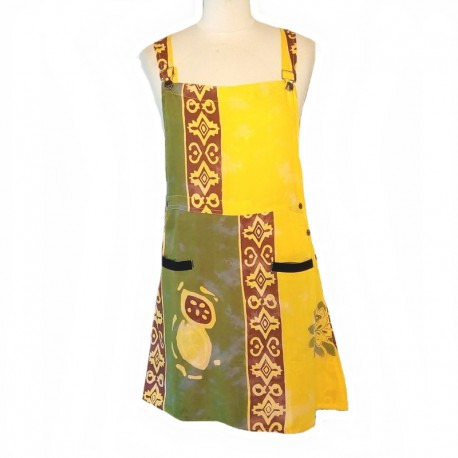 Overalls dress size M - Yellow and green
