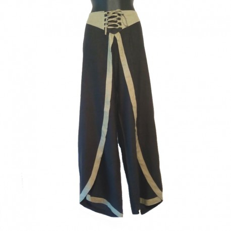 Women's pants Size XL - Black and green