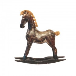 Rocking horse in wood 25 cm
