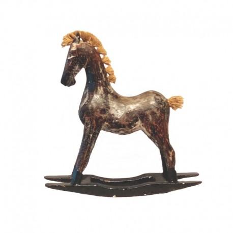 Cheval à bascule en bois 25 cm