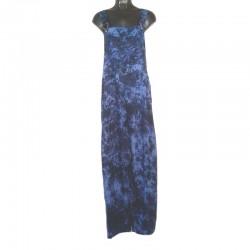 Salopette rayonne taille L - Bleu chiné violet
