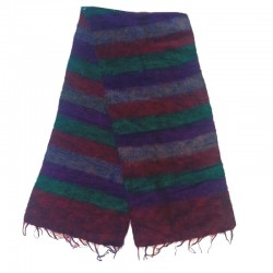 Striped wool scarf Yak 150x30 cm - Model 60