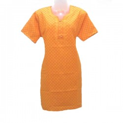 Cotton tunic size 16 us - Orange, yellow design