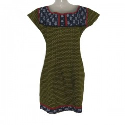 Cotton tunic size 16 us - Green and blue