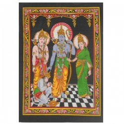 Wall hanging medium - Rama and Hanuman