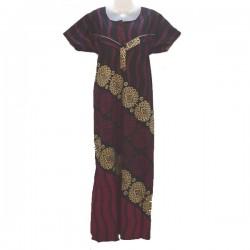 Robe d'allaitement - Noir, violet et beige